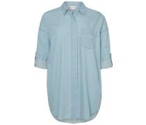 Langärmeliges Hemd blue denim