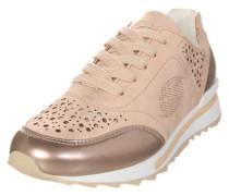 Sneaker mit Lyralochung gold / rosé