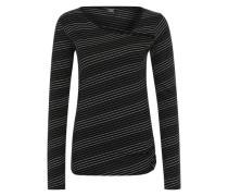 Streifenshirt 'Asym Stripe 4' schwarz
