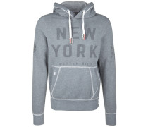 Kapuzensweatshirt 'new York' blau