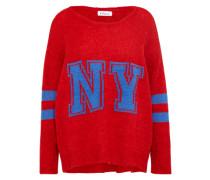Pullover 'ny' blau / rot