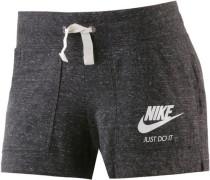 'Gym Vintage' Shorts Damen dunkelgrau