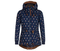 Jacket 'Schmusibumsi' nachtblau / braun