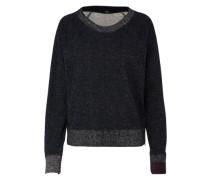 Sweatshirt mit Glitzer schwarz / silber