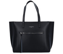 Sac Cabas Shopper Tasche Leder 33 cm schwarz