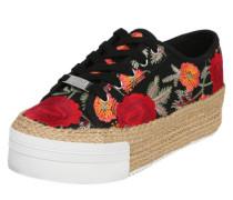 Plateau-Sneaker 'Janella' hellbraun / mischfarben / rot / schwarz