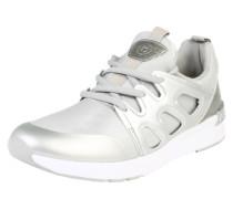 Sneaker mit dämpfender Laufsohle silber