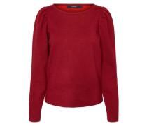 Detailreicher Pullover rot