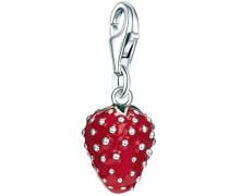 Charm 'Erdbeere' silber
