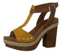 Sandalette braun / gelb
