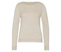 Pullover mit Loop-Schal beige