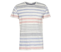 T-Shirt 'Geremia' weiß / blau / rot