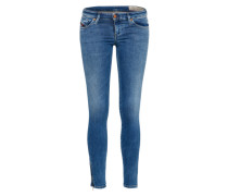 'Skinzee-Low-Zip' Jeans Slimfit 856G blue denim