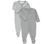 Schlafanzug 2er-Pack grau