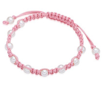 Armband rosa / perlweiß