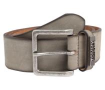 Ledergürtel mit Vintagelook grau