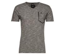 T-Shirt mit Brusttasche 'Today Plus' graumeliert