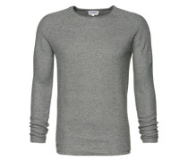 Pullover 'Honeycomb' graumeliert