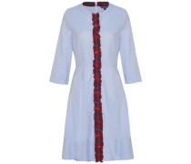 Kleid 'jessica Oxford Dress 3/4 Slv' hellblau / rot