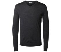 V-Ausschnitt-Pullover dunkelgrau