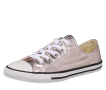 Chucks in Metallic-Optik rosegold