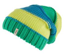 Strickmütze 'Etagen' blau / gelb / grün