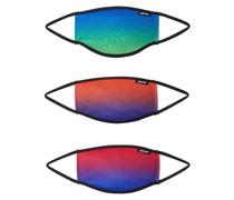 Stoffmasken 3er Pack 'sunset Fade' mischfarben