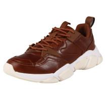 Sneaker 'chunky' hellbraun