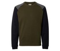 Crew-Neck-Sweatshirt grün