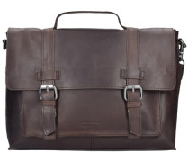 Belt Aktentasche Leder 35 cm Laptopfach braun
