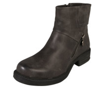 Stiefelette in Leder-Optik anthrazit