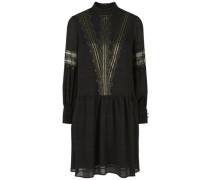 Golddetail-Partykleid schwarz