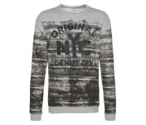 Sweatshirt 'Printed o-neck sweat' grau / schwarz
