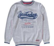 Pullover für Jungen navy / graumeliert