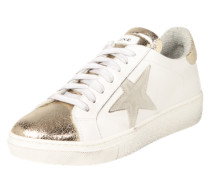 Sneaker mit Stern gold / weiß