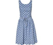 Kleid rauchblau / weiß