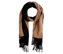 Schal schwarz / braun