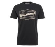 T-Shirt 'labrea ss' schwarz / weiß