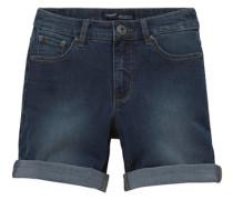 High-waist-Jeans blau
