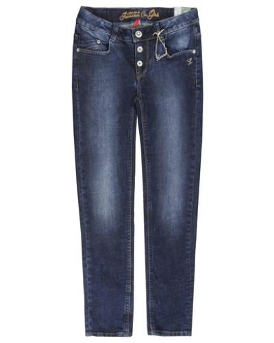 Hose Jeans Girls Skinny Slim Mädchen Kinder blau / blue denim