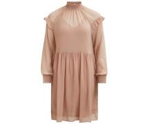 Kleid mit langen Ärmeln Rüschendetail rosa