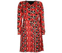 Kleid 'jana' beige / rot / schwarz