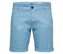 Regular Fit-Chinoshorts hellblau