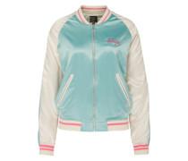 Bomberjacke 'HongKong Paradise' mint / pink / perlweiß