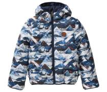 Winterjacke zum Wenden für Jungen blau / weiß