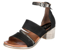 Sandaletten 'Swing' braun / schwarz / silber