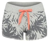 Shorts 'Devore Palms' grau / dunkelgrau / apricot