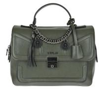 Handtasche mit Kettendetails grün
