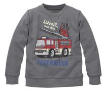 Sweatshirt mit Spruch für Jungen grau / rot