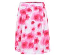 Faltenrock mit Print pink / weiß